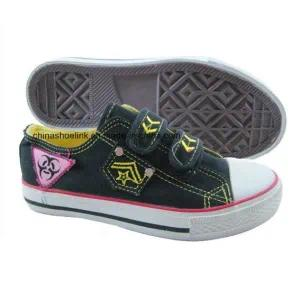 Whoesale Fashion Children′s Casual Canvas Vulcanized Shoes