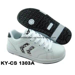 China Fashion Casual Skateboard Shoes PU Upper with Rb Sole for Lady and Kids