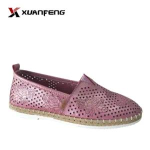 Fashion Lady Summer Comfortable Genuine Leather Casual Shoes