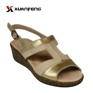 Popular Comfortable Women′s Leather Sandals