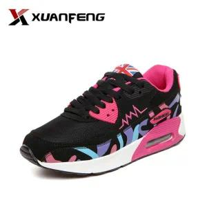 Popular Colorful Women′s Running Sports Sneakers Casual Shoes