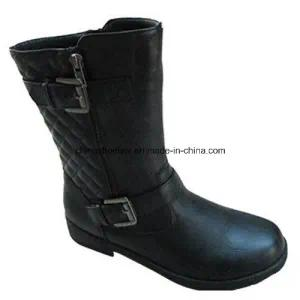 China Women Winter MID-Cut Boots Supplier PU Leather