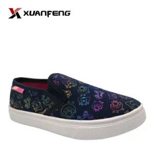 Wholesale Children′s Injection Slip Ons Canvas Shoes with Printing