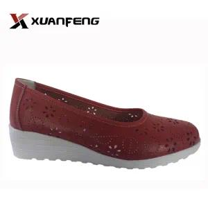 New Fashion Casual Leather Shoes with TPR Sole for Women