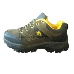 China Men Hiking Shoes Trekking Shoes Cow Suede Leather