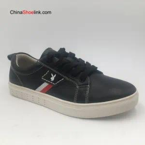 Wholesale Men′s Leather Leisure Comfort Sneakers Shoes