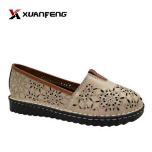 Popular Summer Ladies Casual Leather Shoe