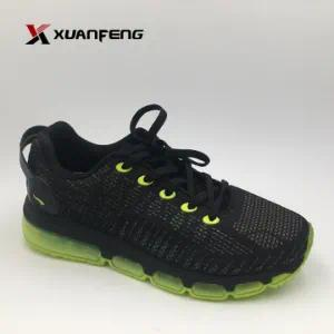 Wholesale Quality Men′s Outdoor Sneakers Sports Shoes with Flyknit Upper